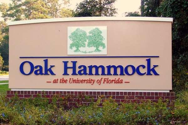 Oak Hammock Entrance on Williston Rd.