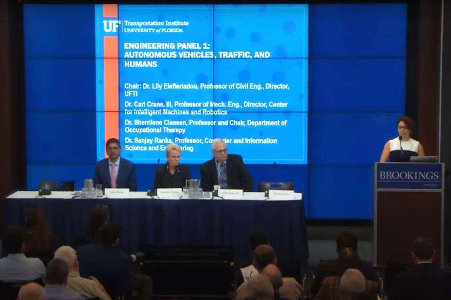 Dr. Sherrilene Classen was a panelist, along with other engineers, researchers, economists, and government officials, to provide a realistic outlook on the current state of driverless cars.
