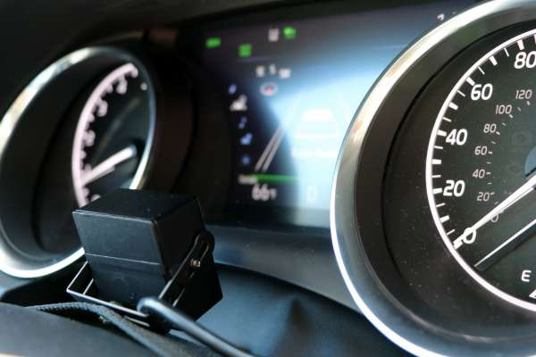 Camry dash instrumented with camera