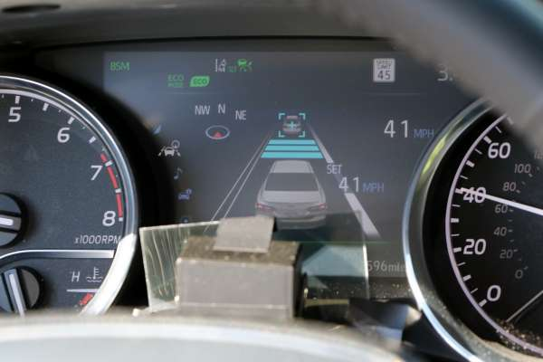 Camry Adaptive Cruise Control activated following a lead vehicle